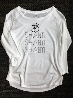 OM SHANTI SHANTI SHANTI - SHIRT - WHITE