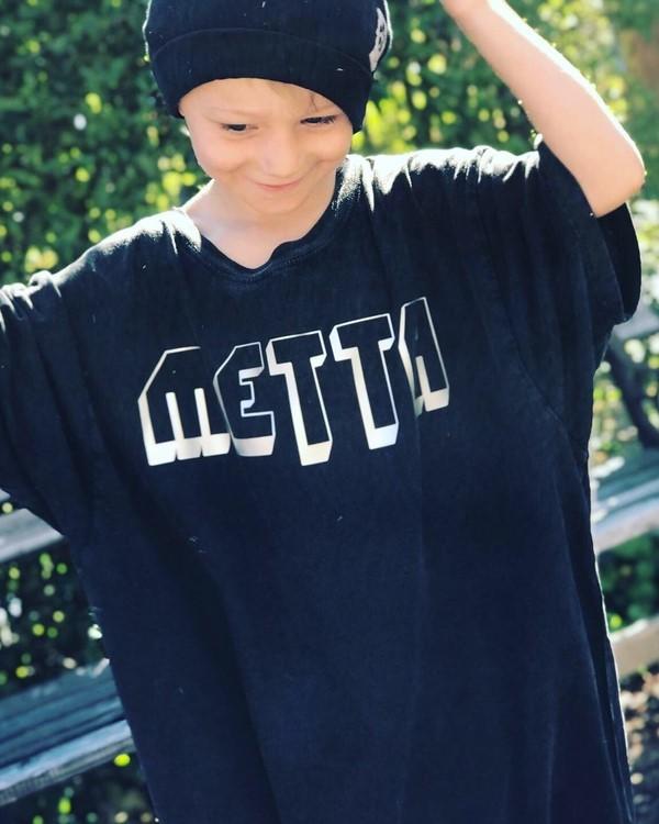 METTA - UNISEX TEE - STONE WASHED BLACK