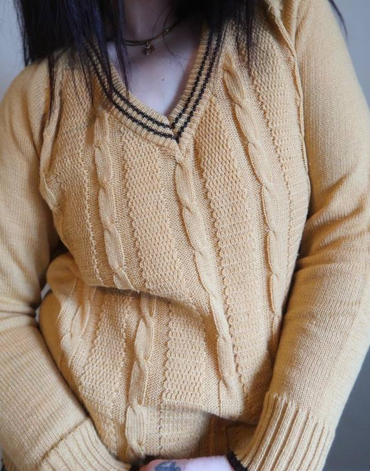 Senapsgul tröja