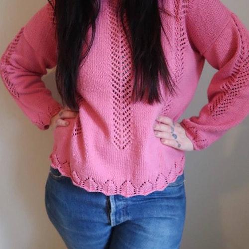 Rosa hemmastickad tröja