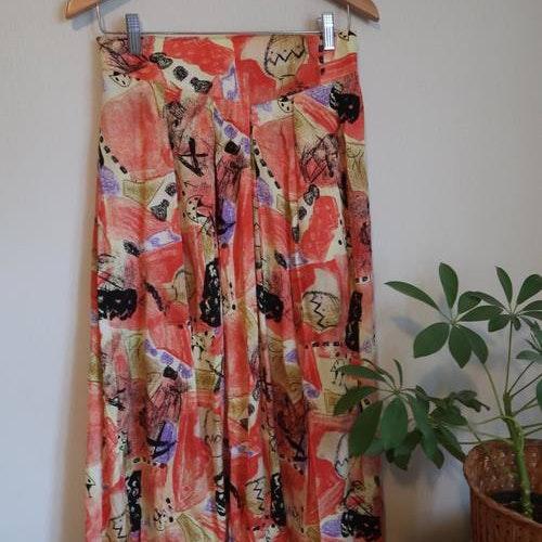 Orange kjol