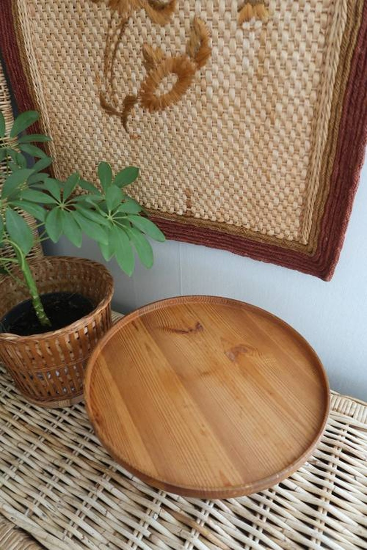 Tårt/kakfat i trä
