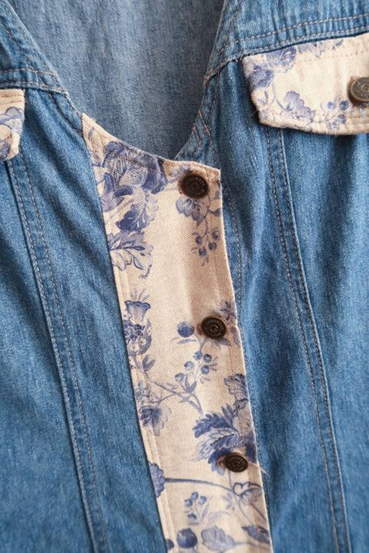 Jeansklänning med snygga detaljer