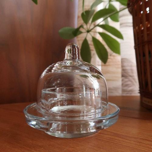 Glasskål med lock