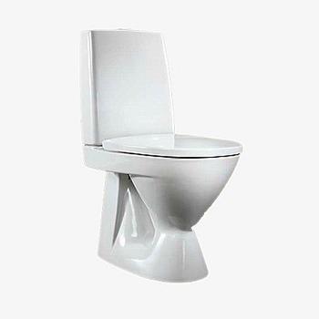 IDO WC-STOL SEVEN D 376100, VIT DOLT AVLOP