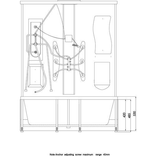 Arrow Duschkabin 6025