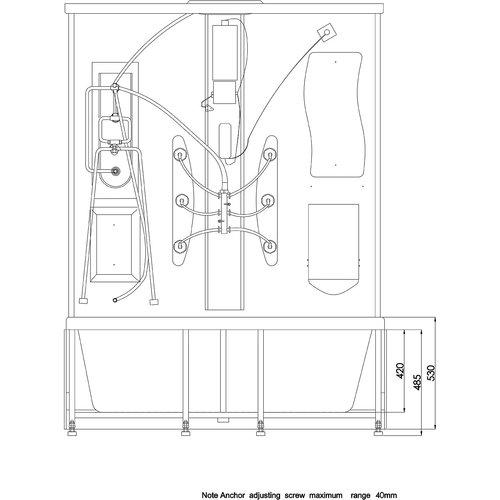 Arrow Duschkabin 6026