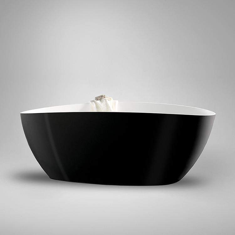 Westerbergs badkar ellipse 1570 svart/vit