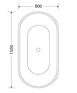 NORDHEM ASPHOLMEN 1500X800X600 MATTVIT AKRYL