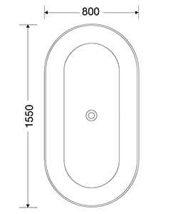 HOVÅS 1550x800x600 VIT LUCITE FRISTÅENDE DUBBEL