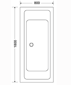 SALTHOLMEN 1800x800x590 VIT STANDARD LIKSIDIG DUBBEL