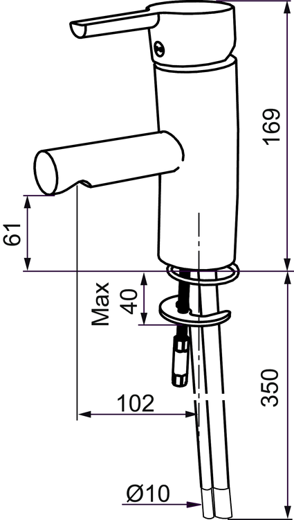 Tvättställsblandare MORA MMIX B5