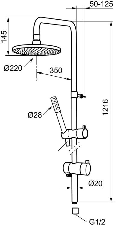 Shower system MORA REXX 6