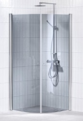 Picto duschhörna (svängd) Grå 90x90