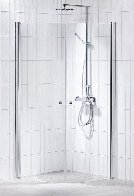 Picto duschhörna (svängd) Klar 80x80