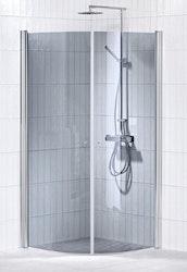 Picto duschhörna (svängd) Grå 80x90