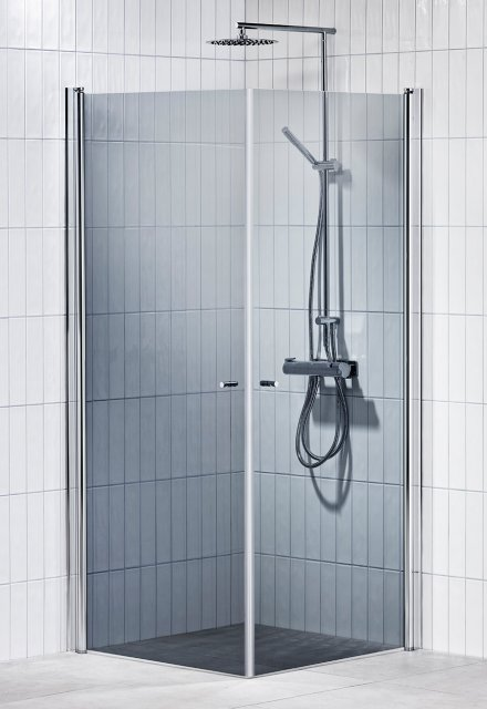 Picto duschhörna (rak) Grå 80x80