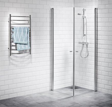 Picto duschhörna (rak) Klar 90x100