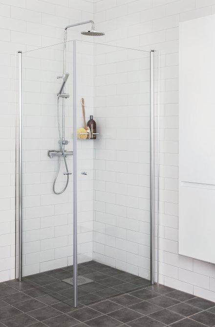 Picto duschhörna (rak) Klar 100x100