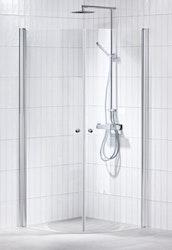 Picto duschhörna (svängd) klar 100x100