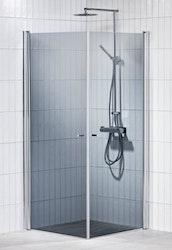 Picto duschhörna (rak) Grå 90x100