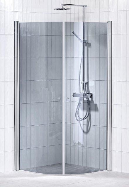 Picto duschhörna (svängd) Grå 80x100