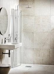 Lusso duschdörr, extra svängd Klar 90