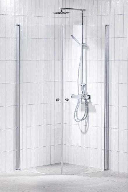Lusso duschhörna (svängd) Klar 100x100