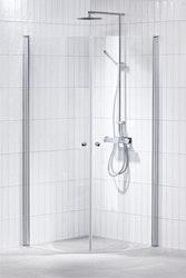 Lusso duschhörna (svängd) Klar 80x90