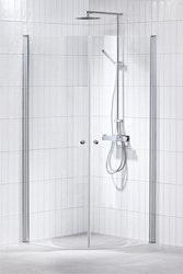 Lusso duschhörna (svängd) Klar 90x90