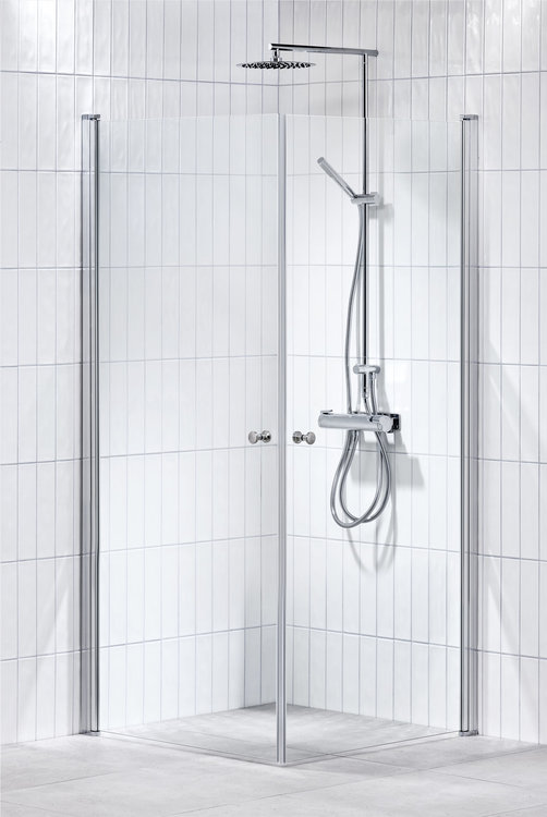 Lusso duschhörna (rak) Klar 80x80