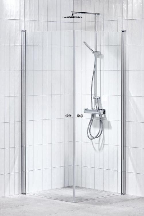 Lusso duschhörna (rak) Klar 90x90