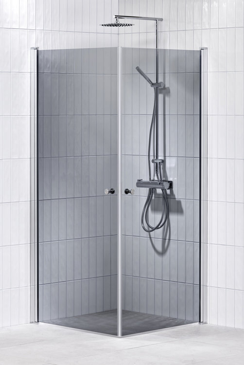 Lusso duschhörna (rak) Grå 80x80