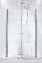 Lusso duschhörna (rak) Frost 80x80