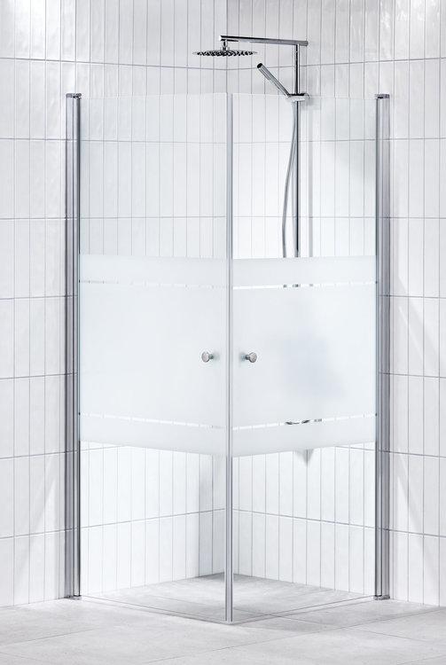 Lusso duschhörna (rak) Frost 90x90
