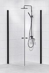 Lusso duschhörna (rak) Black 90x90