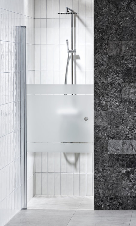 Lusso nischdörr (med dörrknopp) Frost 80