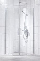 Lusso duschhörna (svängd med handtag 1) Klar 80x90