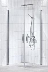 Lusso duschhörna (rak med handtag 1) Klar 70x90