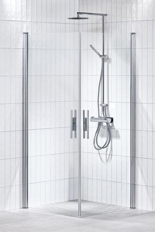 Lusso duschhörna (rak med handtag 1) Klar 80x80