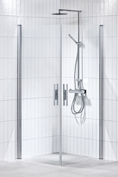 Lusso duschhörna rak 80X90 klar