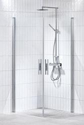 Lusso duschhörna (rak med handtag 1) 100X100 Klar