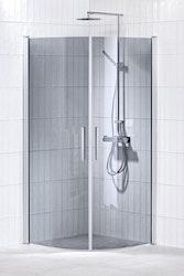 Lusso duschhörna (svängd med handtag 1) 80X80 Grå
