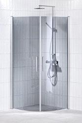 Lusso duschhörna (svängd med handtag 1) 100X100 Grå
