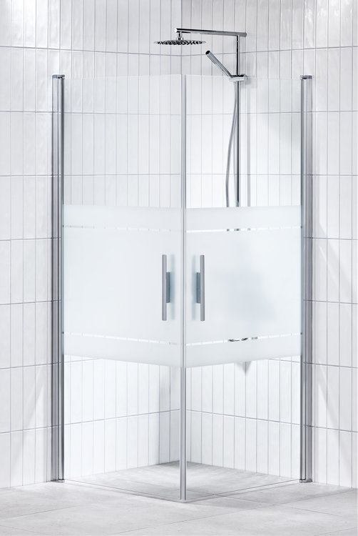 Lusso duschhörna (rak med handtag 1) 80X80 Frost