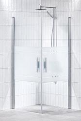 Lusso duschhörna (rak med handtag 1) 90X90 Frost