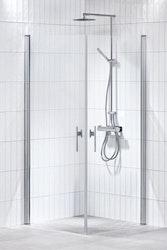 Lusso duschhörna (rak med 2 handtag)  80X80 Klar