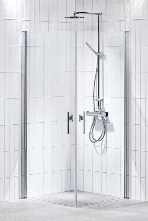 Lusso duschhörna (rak med 2 handtag) 90X90 Klar