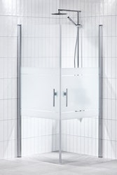 Lusso duschhörna (rak med 2 handtag) 80X80 Frost