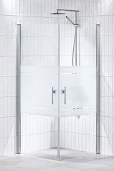 Lusso duschhörna (rak med 2 handtag) 90X90 Frost